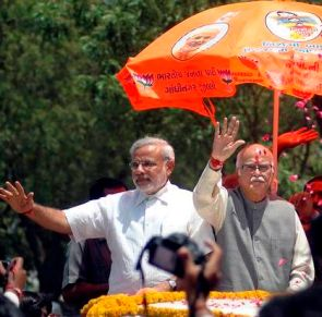Narendra Modi and L K Advani