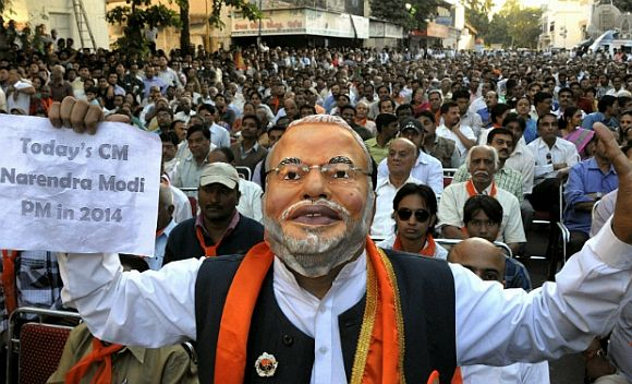 The BJP outside of Delhi feels for Modi