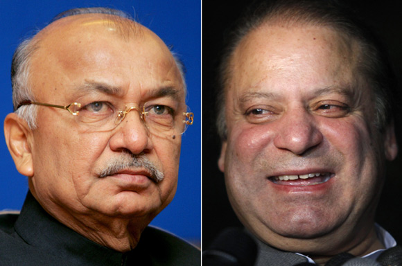 Home Minister Sushil Kumar Shinde went ballistic against Pakistan, where Nawaz Sharif was recently anointed as prime minister.