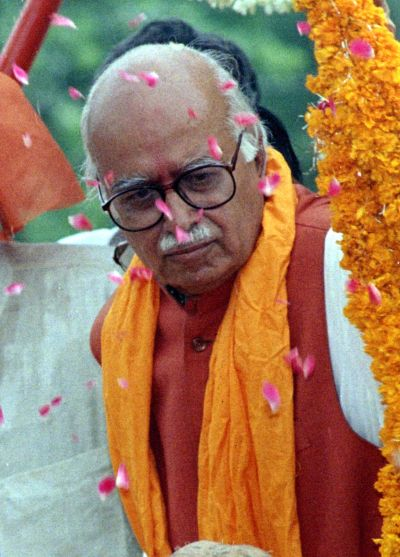 A 1997 photograph of then BJP president L K Advani
