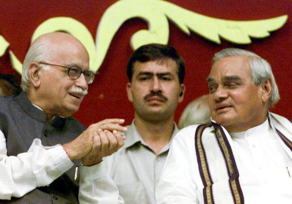 'Moderate' Vajpayee and 'hardline' Advani