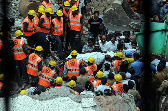 PICS: Mahim building collapse death toll rises to 10