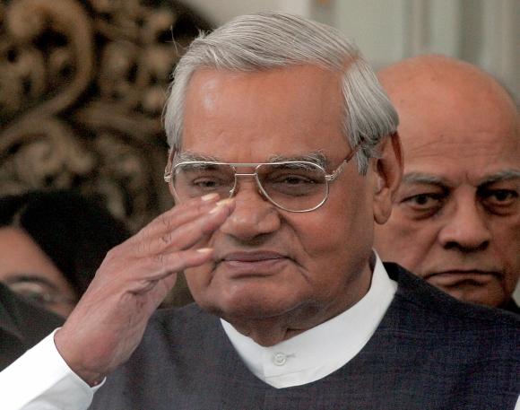 Former prime minister Atal Bihari Vajpayee