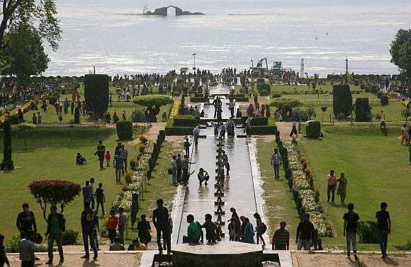 The Mughal Gardens in Kashmir