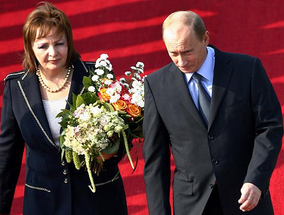 Russian President Vladimir Putin with wife Lyudmila Putina