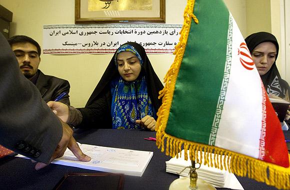 IN PIX: Iran votes to elect Ahmadinejad's successor