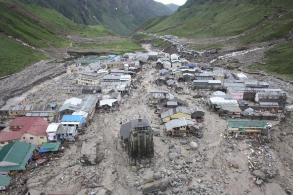 Damage caused by heavy rains in Kedarnath