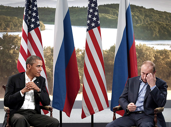 Obama, Putin discuss Syria  during the G8 Summit at Lough Erne