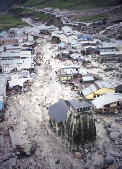 A video grab of the devastation at Kedarnath