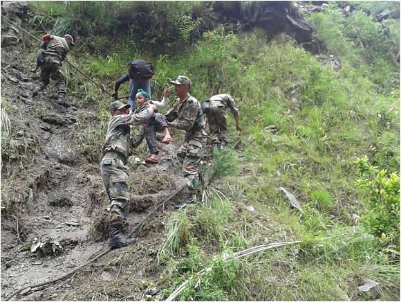 Rescue operations by the Army in Joshimath, Uttarakhand