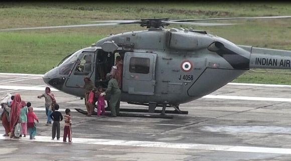 Indian Air Force evacuating flood victims from Changla