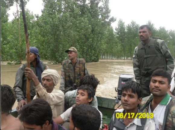 Army conducting flood-relief operation in Uttarakhand