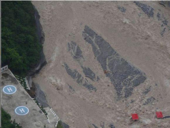 Army-constructed rescue helipad at landslide-hit Govindghat in Uttarakhand