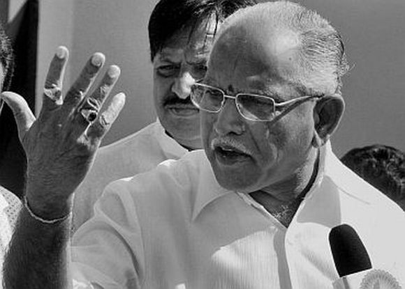 Former Karnataka chief minister KJP supremo B S Yeddyurappa