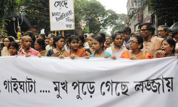 Citizens of Kolkata turned out in huge numbers in a rally organised by intellectuals of Kolkata to protest gangrape of a student at Kamduni, North 24 Parganas.