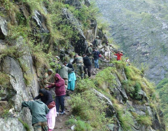 Army personnel come to the rescue of stranded tourists and pilgrims in Uttarakhand