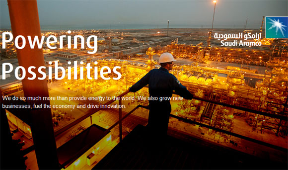 Oil giant Saudi Aramco's website