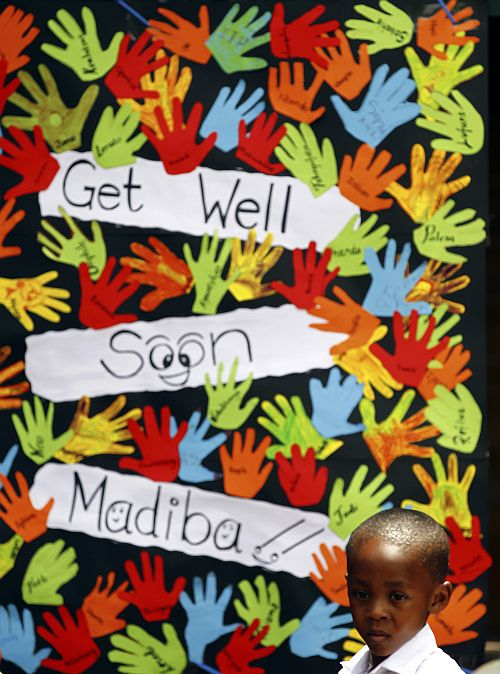 South Africa prays for 'beloved' Madiba