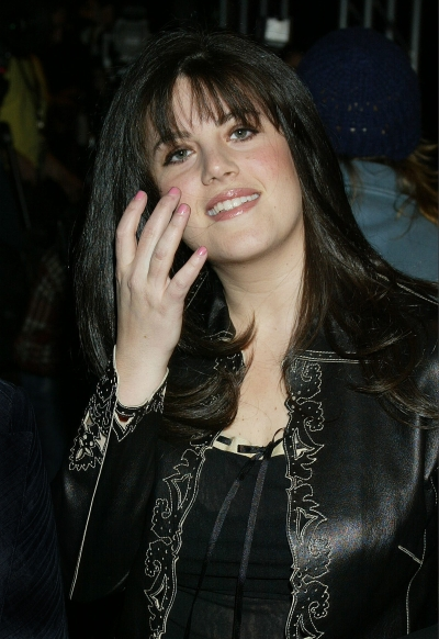 Lewinsky attends a show during the Mercedes Benz Fashion Week 2002 in New York City
