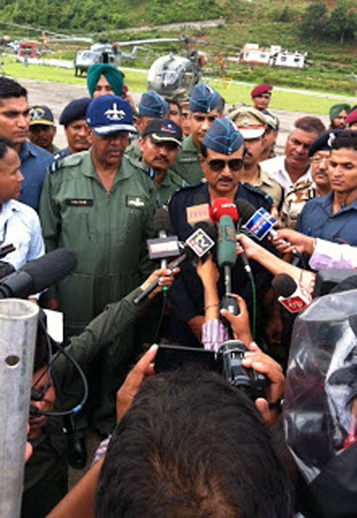 Air Chief Marshal NAK Browne at Gauchar