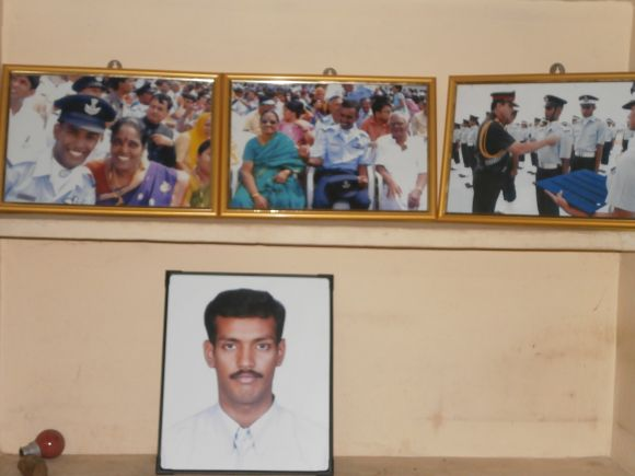 The walls of K Praveen's home in Madurai are full of his IAF photographs, and his awards and citations