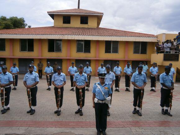 Flight Lieutenant K Praveen was given a guard of honour