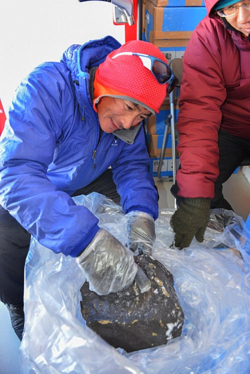 More than 38,000 meteorites have been found in Antarctica, but only 30 bigger than 18 kg. The big meteorite found in Antarctica is an ordinary chondrite