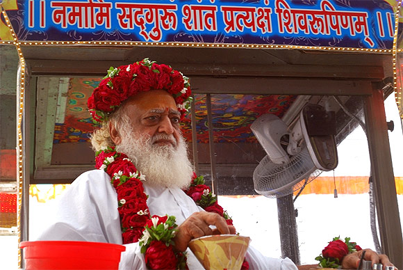 Asaram Bapu at the Kumbh Mela.