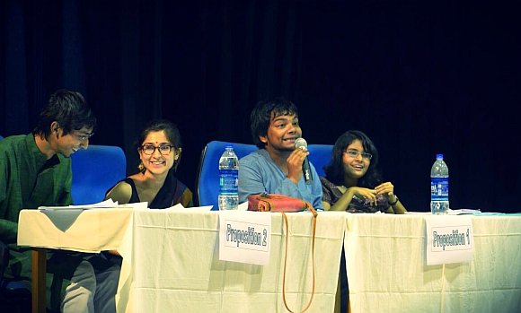 Taniya Bhardwaj (second from left)