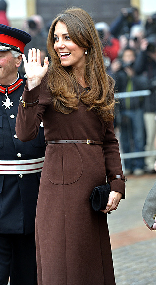 Britain's Catherine, Duchess of Cambridge arrives at the National Fishing Heritage Centre in Grimsby, in northern England March 5, 2013.