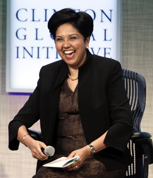 Indian American entrepreneur Indra Nooyi