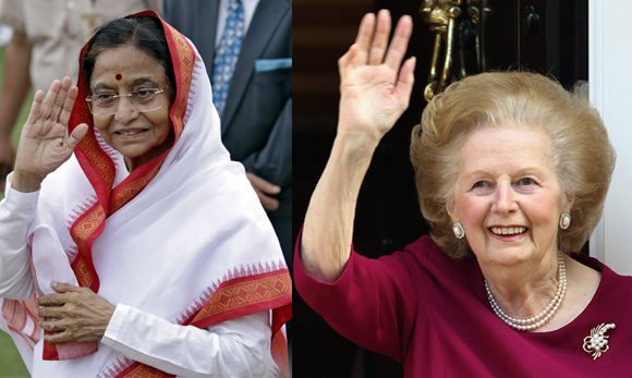 Former President Pratibha Patil and former British prime minister Margaret Thatcher