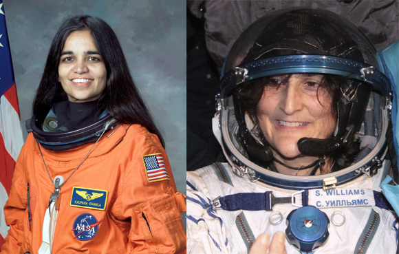 India-origin astronauts Kalpana Chawla and Sunita Williams