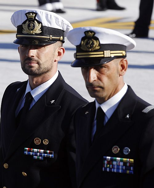 Italian marines return to India