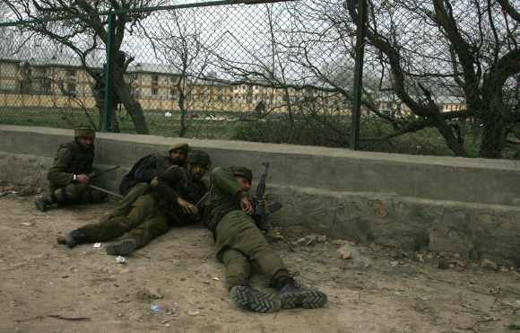 Two militants were killed during the encounter