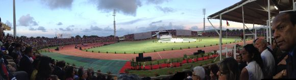 The Anjalay stadium in Mauritius where the National Day festivities were held