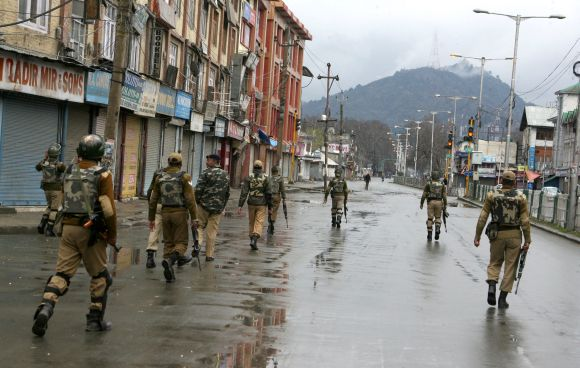 A curfew was imposed early Thursday morning in capital Srinagar and other major towns in Kashmir