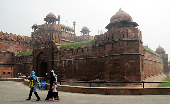 Shah Jahan built the historic Red Fort in Delhi which was the home of the Mughal Emperors.