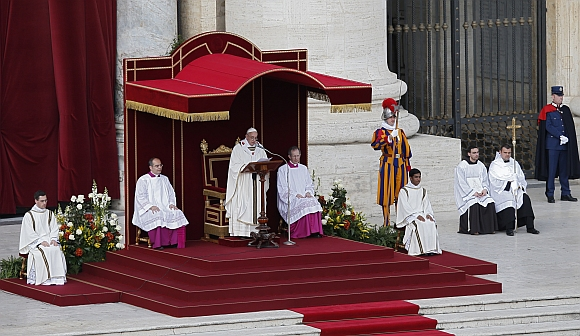 Protect weak and poor, says Pope Francis at inaugural Mass