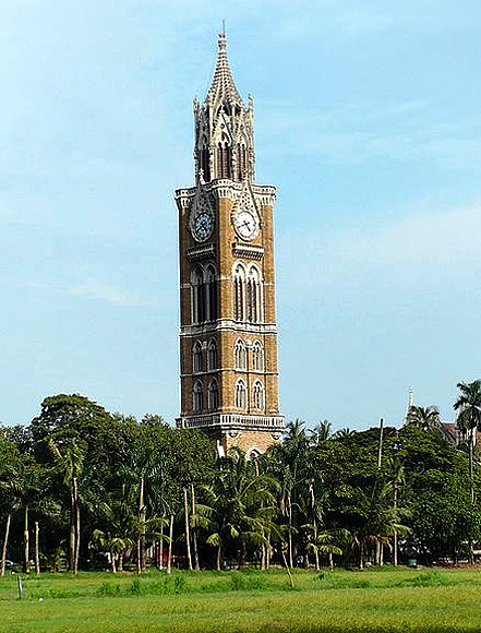 The Rajabai Tower at the University of Mumbai, one of the oldest universities in India, founded in 1857.
