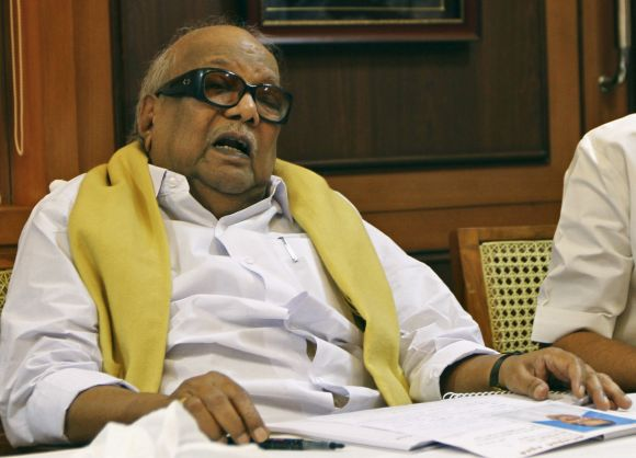 DMK chief M Karunanidhi in Chennai