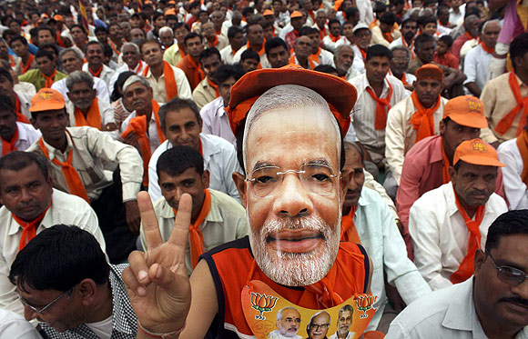 Narendra Modi's popularity has BJP leaders worried.