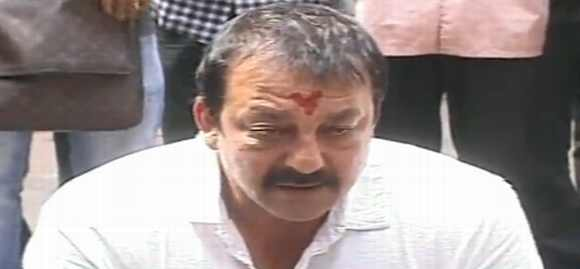 Actor Sanjay Dutt addresses the media in Mumbai on Thursday