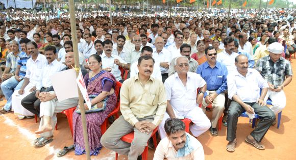 The BJP camp is upbeat thanks to the handsome turnout at Narendra Modi's rally in Mangalore