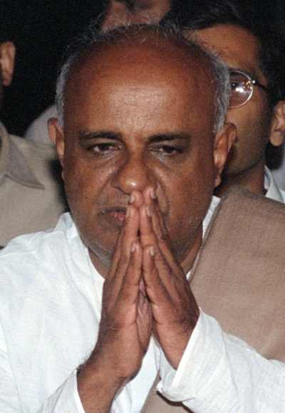 H D Deve Gowda of the JD-S