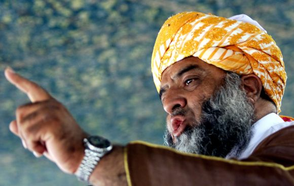 Maulana Fazlur Rehman, leader of the pro-Taliban Jamiat Ulema-i-Islam party, attends a rally in Quetta