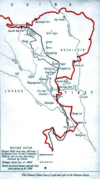 The Chinese 1956 claim line