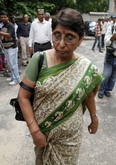 Maya Kodnani appears for a court hearing in Ahmedabad in August, 2012