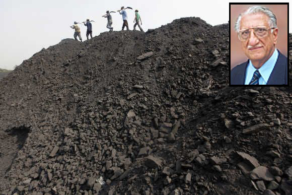An underground coal mine in Odisha and, (inset), Anil Divan