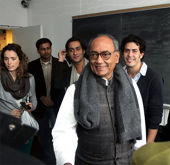 Digvijaya Singh is in the US to attend his son Jaivardhan's graduation ceremony at Columbia University.